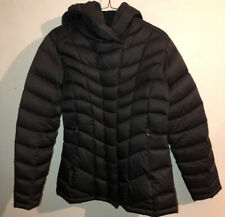 Patagonia women's black goose down hooded jacket size small