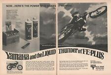1970 FE Plus Motorcycle Fuel Additive Oil Yamaha 250 Enduro - 2-Page Vintage Ad