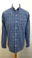 HOLLISTER Mens Shirt M Medium Blue White Check Cotton