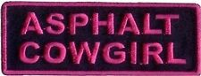 Asphalt Cowgirl Embroidered Motorcycle Chick MC Club Biker Vest Patch PAT-0111
