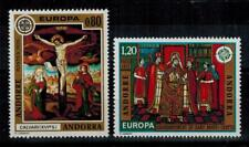 "(b12)  timbres d'Andorre Français n° 243/244 neufs** année 1975 ""europa"""