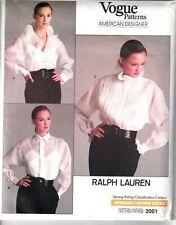 Vogue Sewing Pattern 2001 Ralph Lauren Blouse Camisole US 14 UK 18 Ladies UNCUT