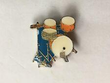 VTG 80'S DRUM SET ENAMEL LAPEL PIN
