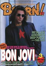 Burrn! Heavy Metal Magazine March 1995 Japan Bon Jovi Aerosmith Accept Dokken