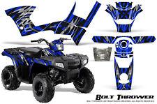 POLARIS SPORTSMAN 90 110 GRAPHICS KIT CREATORX DECALS BOLT THROWER BLUE