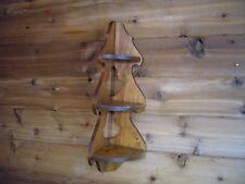 "Wooden Rustic Corner Shelf 3 shelves 20+"" tall curio shelf"