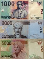 INDONESIA 1000 2000 5000 Rupiah 2010 13 SET GREAT UNCIRCULATED BANKNOTES