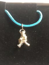 "Window Cleaner TG320A Made In Fine English Pewter On 18"" Blue Cord Necklace"