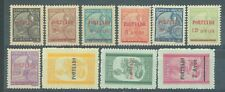 China Macao 1949 & 1951 postage dues sg. D424-30 & D439-41 MH