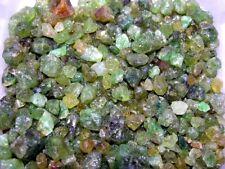 Garnet green mixed grade natural mine rough crystal Mali,Africa 1/2 pound lots
