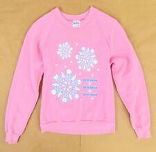 70s Vintage Graphic Sweatshirt Women's S M XS Snowflakes Novelty Let it Snow