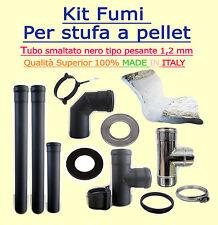 Conduit de Fumée Kit pour Biomasse Stoves Diam 100MM Coated Black 1,2 mm Mur D