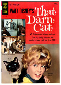 Walt Disney's THAT DARN CAT   VF/NM Gold Key 1965 comic HAYLEY MILLS photo cover