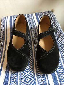 Hotter Ladies Shoes Size 8 Black Suede Wren