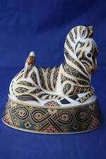 ROYAL CROWN DERBY ZEBRA PAPERWEIGHT LXI - BOXED
