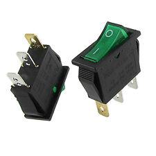 20pcs Green Light ON-OFF I/O SPST Boat  Rocker Switch 3 Pins15A/250V 20A/125V AC