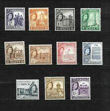 Malta, 1956 QEII pictorials, complete set to 1/- MNH (M414)