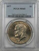 1977 Eisenhower  Ike Dollar $1 Coin PCGS MS65 (BR-37 Q)