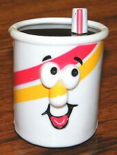 Vintage 1989 Hallmark Cards Rolling Toy Red & Yellow Cup Face From Burger King!