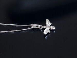 925 sterling silver Bumble Bee pendant necklace with  chain