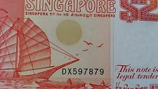 Singapore $2 Banknote, Ship Series Year 1991, An UNC & Extreme Mint Note