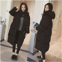 Women Loose Hooded Oversized Puffer Long Coat Parka Jacket Winter Outerwear