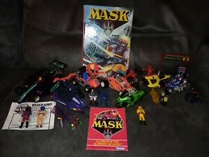 Huge M.a.s.k. Figure Vehicle Bundle MASK Kenner inc buzzard/pit stop Vintage 80s