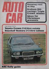 Autocar 30/11/1972 featuring Toyota Crown, Vauxhall Ventora, Graham Hill