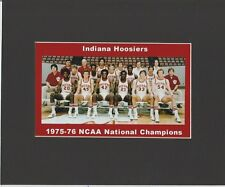 INDIANA HOOSIERS MATTED TEAM PIC OF 1975-76 NCAA BASKETBALL NATIONAL CHAMPS