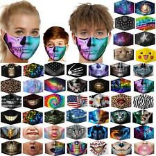 Kids and Adults 3d Funny Mouth Mark Fabric Facemask Washable Party Magic Gothic