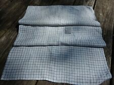 Antique Blue and White Homespun Kitchen Towel Farm