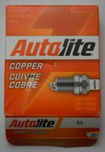 4 x Autolite Copper Spark Plugs - 65 - New