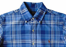 Men's RALPH LAUREN Blue White Plaid Oxford Shirt 3XB BIG 3X 3XL NWT NEW Nice!