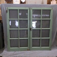 Pair Antique Casement Windows Cabinet Cupboard Pantry Door Bookcase Vtg 67-17R