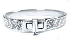 Retired Gave Crystal Bangle, White - Size Small Swarovski Jewelry #5294938
