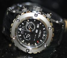 Invicta Men's Rare Swiss Reserve Multi-Function GMT Black Dial Poly Watch 6206