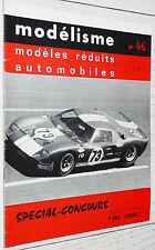 MODELISME N°46 1966 MODELES REDUITS AUTOMOBILES DINKY TOYS CORGI SOLIDO
