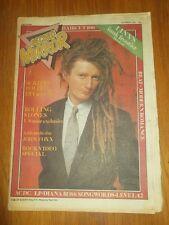 RECORD MIRROR DECEMBER 5 1981 LINX AC/DC HAIRCUT 100 ROLLING STONES JON FOXX