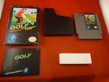 Golf (Nintendo NES, 1985) COMPLETE w/ Black Box manual game WORKS! #K1