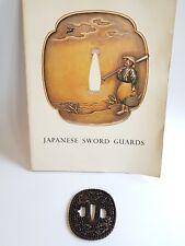 Antique Iron Tsuba Edo Era Japanese Sword Guard Samurai Katana Original Rare 09