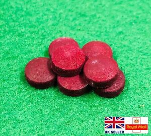Full Grain Leather Domed Snooker Cue Tips