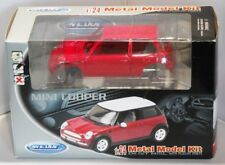 WELLY 1:24 RED MINI COOPER METAL MODEL KIT  - MAKE IT YOURSELF ~ COLLECTABLE