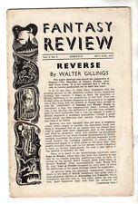 Fantasy Review Vol 1 No 5 Oct - Nov 1947 / A E Van Vogt