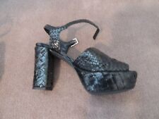 Pons Quintanta woven Leather Platform Heels Size 36