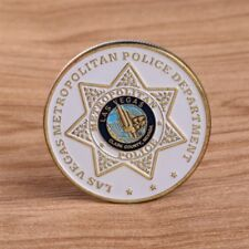 Las Vegas Metropolitan Police Commemorative Challenge Coin Souvenirs Art Golden