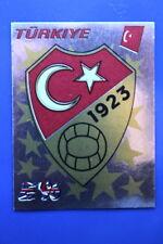 Panini EURO EUROPE 96 N. 315 TURKIYE BADGE MINT!!