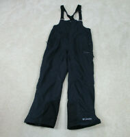 Columbia Overalls Adult Medium Black Gray Snow Winter Snowboard Outdoors Mens *