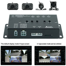Car 360° Full Parking View 4-Way Control Box 4 Camera DVR Split Video Monitoring