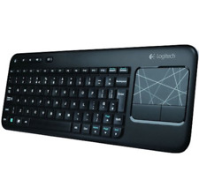 Logitech Black Wireless Keyboard Mouse K400 with Built-In Multi-Touch Touchpad
