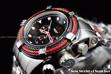 Invicta Men's 53mm Bolt Zeus Tri Cable Red Black Chronograph SS Watch